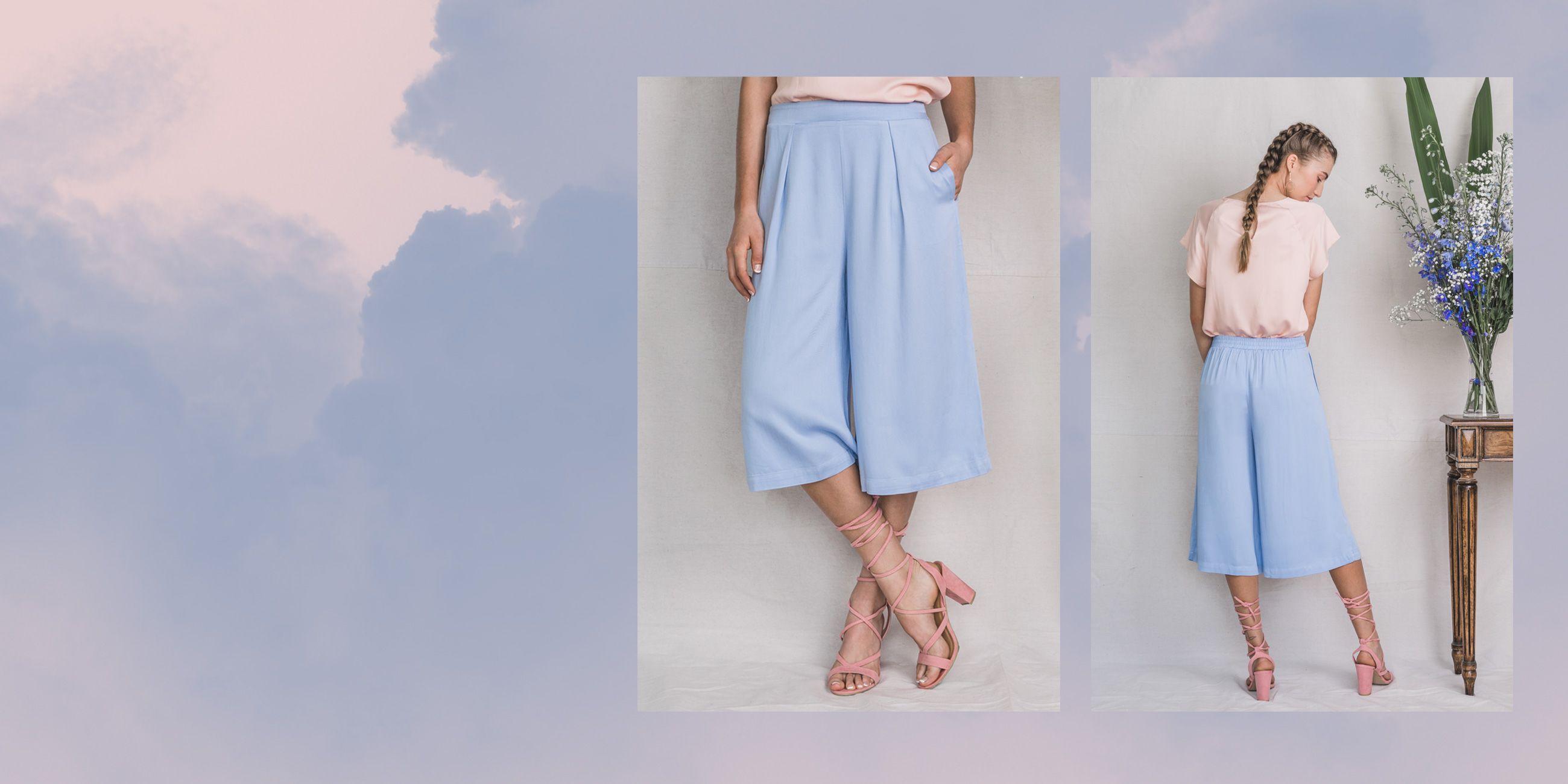 Vela Bamboo Culottes (Serenity Blue) 2