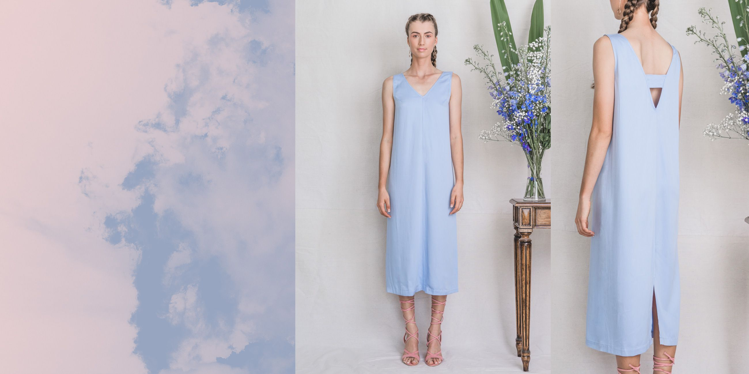 Hydrus Bamboo Dress Serenity Blue – The Great Beyond 3