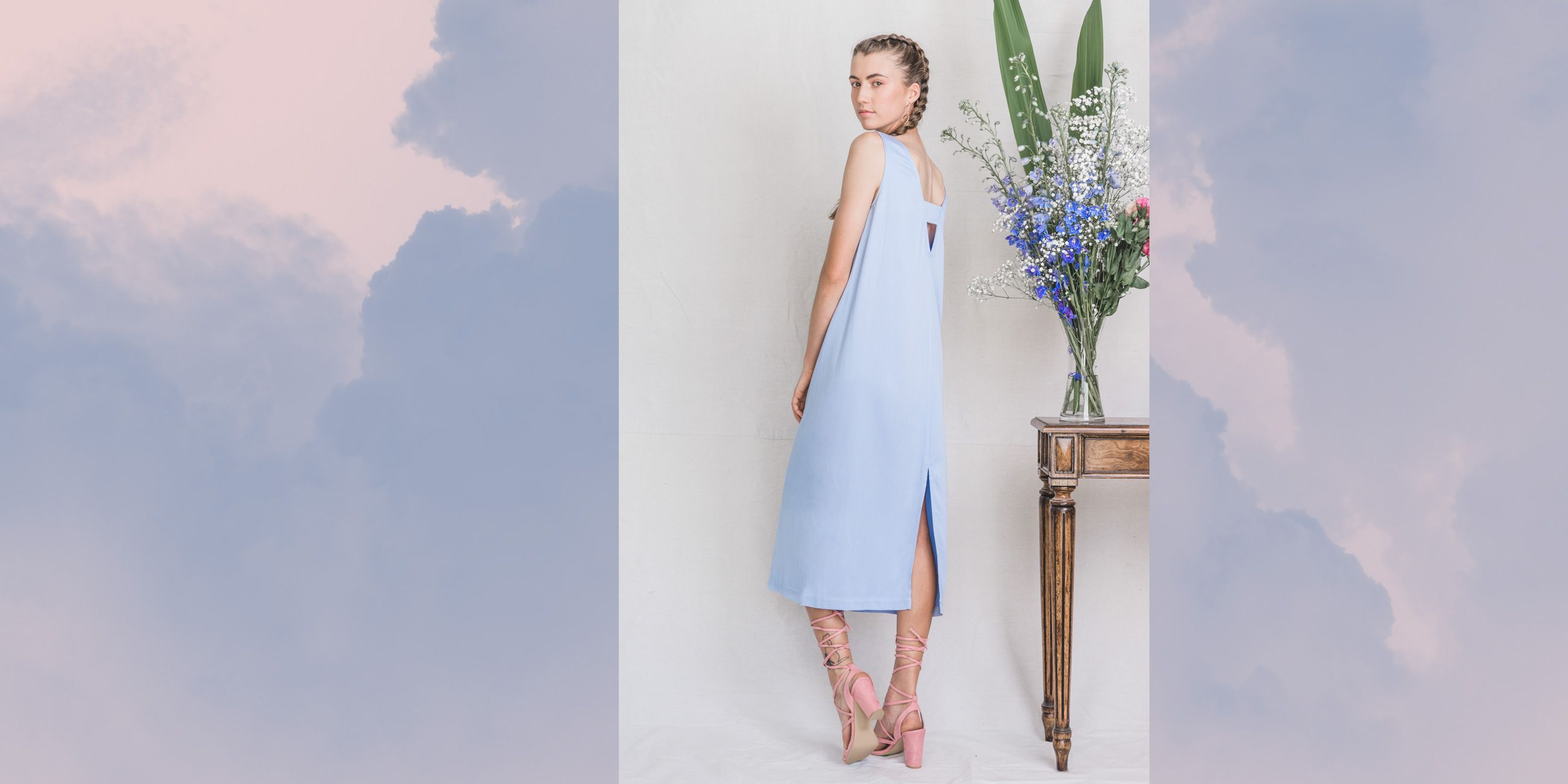 Hydrus Bamboo Dress Serenity Blue – The Great Beyond 2