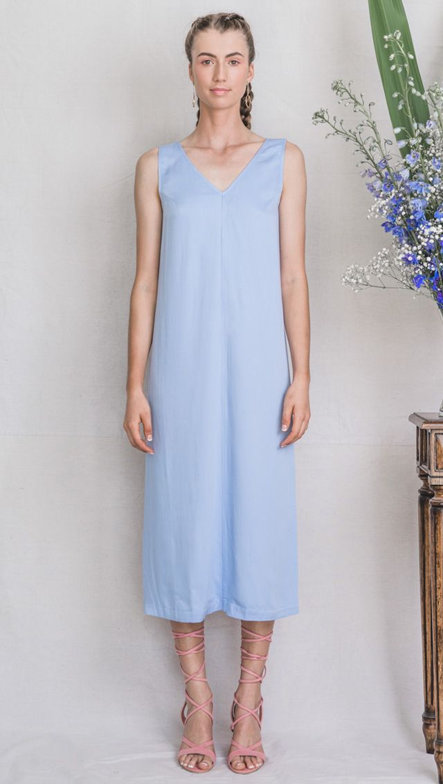 bamboo dress, blue dress, summer dress, fashion, australian design, bamboo clothing, pastel dress, ecofashion, sustainable clothing, bamboo fabric
