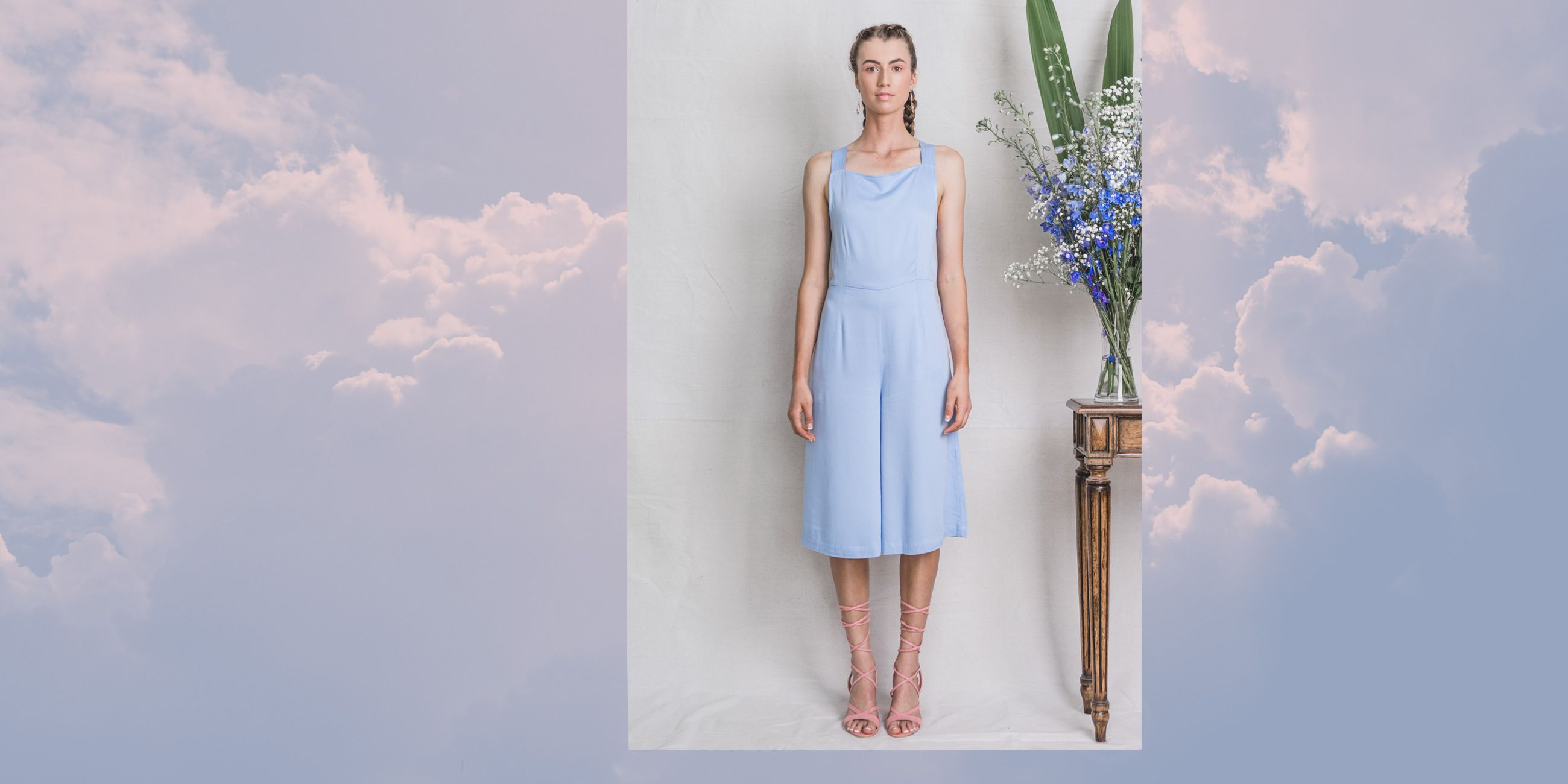 Lyra Bamboo Playsuit in Serenity Blue – The Great Beyond 3