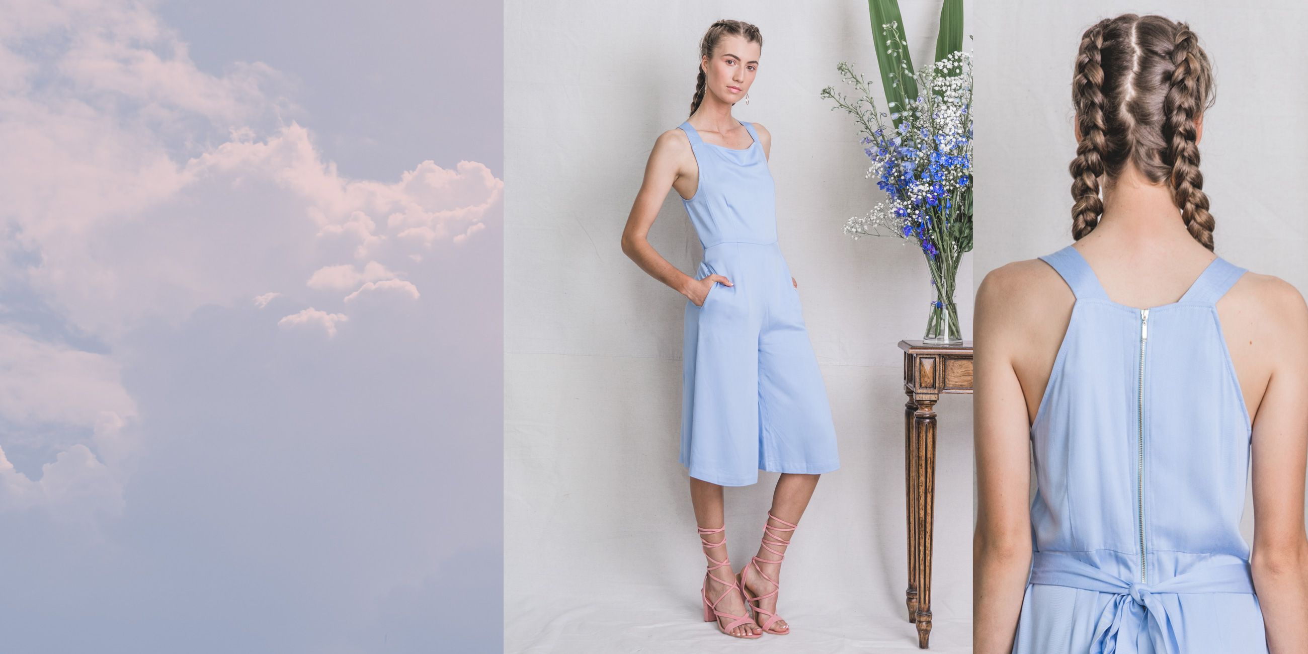 Lyra Bamboo Playsuit in Serenity Blue – The Great Beyond 2