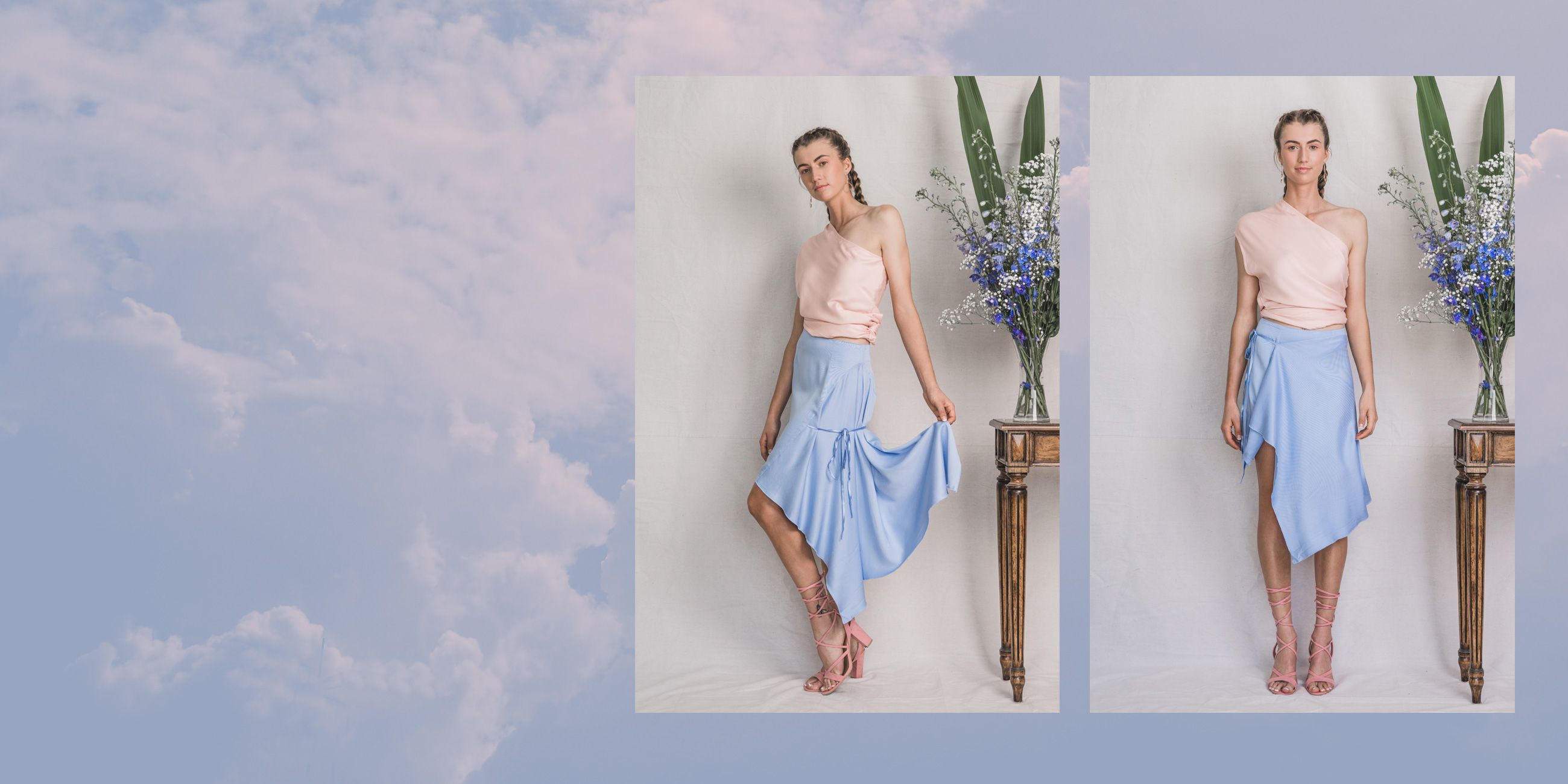 Ara Bamboo skirt in Serenity Blue – The Great Beyond 1