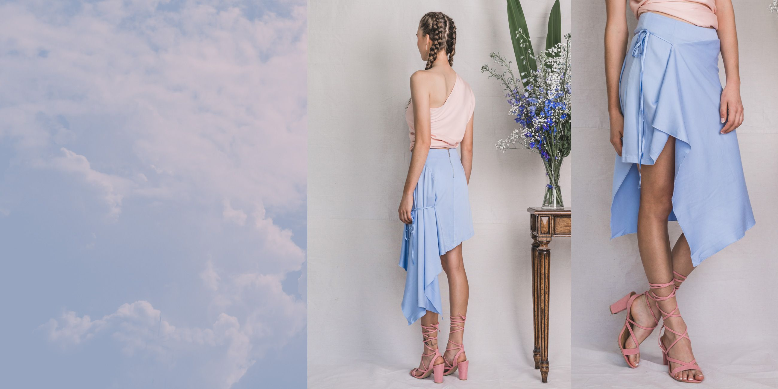Ara Bamboo skirt in Serenity Blue – The Great Beyond 3