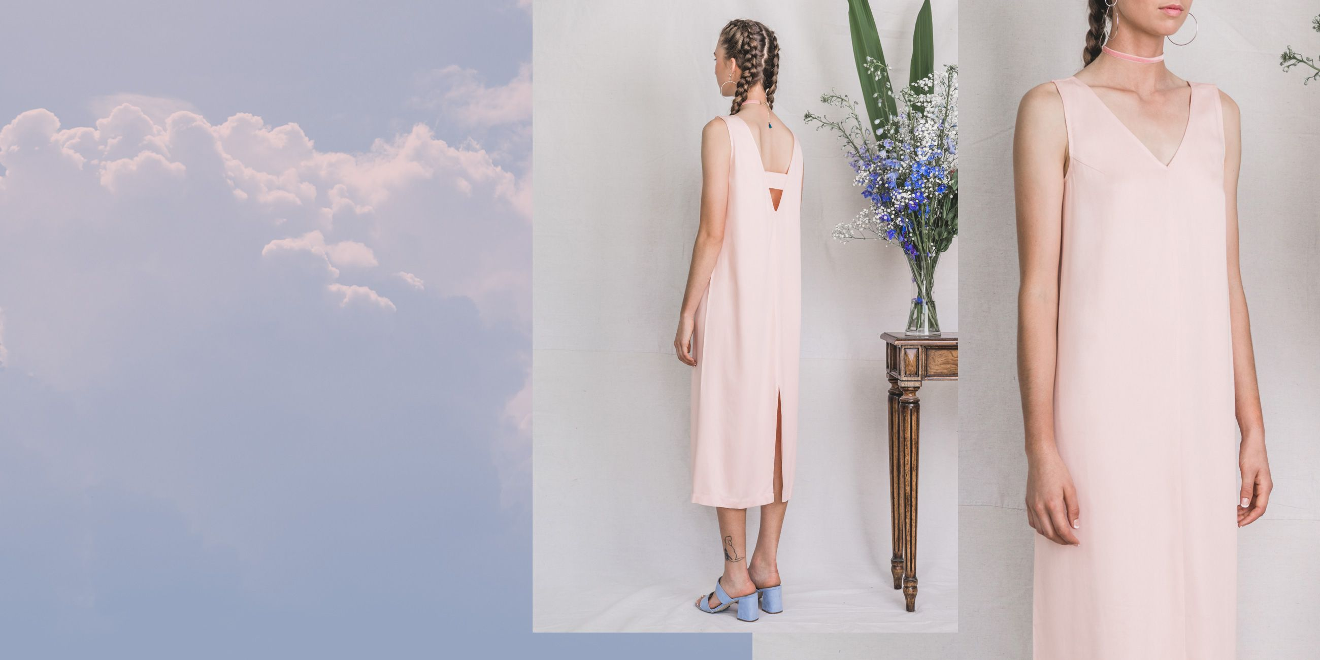 Hydrus Bamboo Dress (Rose Quartz) 2