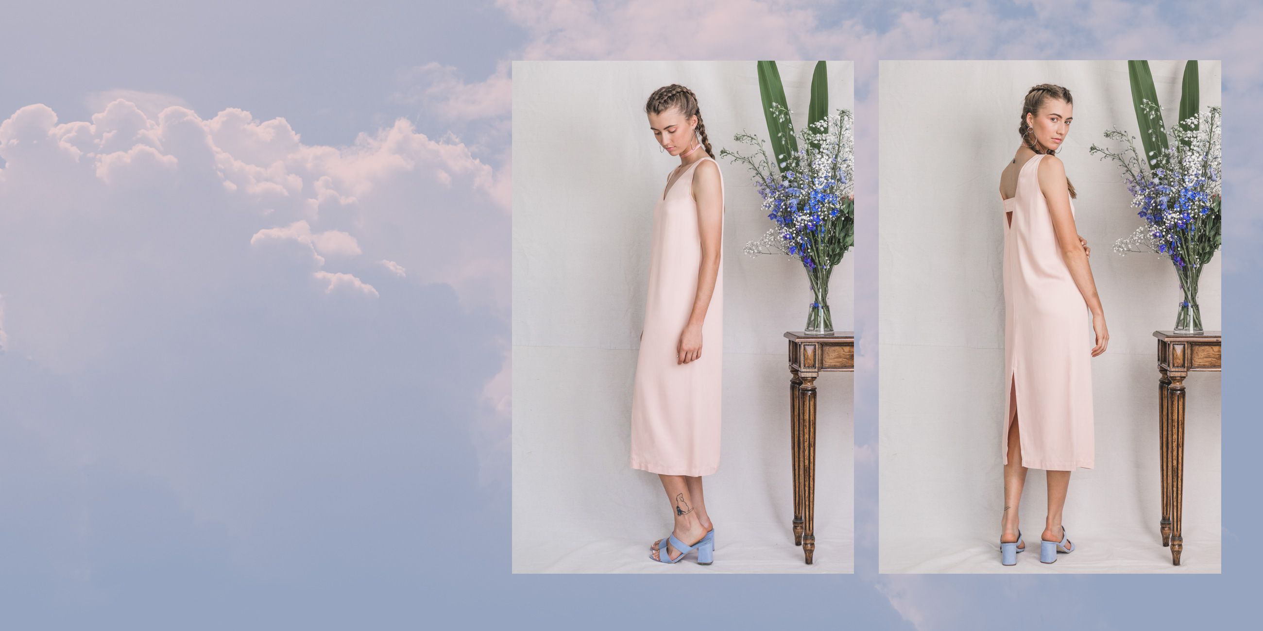 Hydrus Bamboo Dress (Rose Quartz) 1