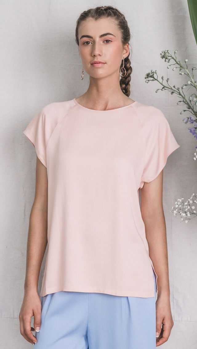 bamboo top, bamboo clothing, pink top, raglan top, australian design, ecofashion, bamboo fashion, sustainable clothing, vegan fashion, summer fashion,