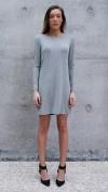 Bamboo Jersey Eco Friendly Fashion Long Sleeve Short Dress Grey
