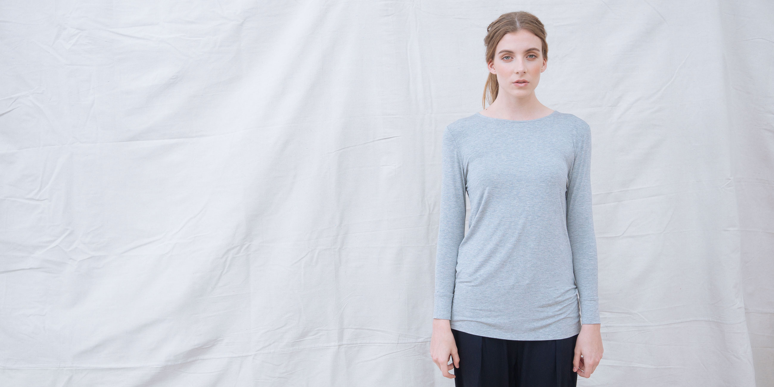 Bamboo Long Sleeve Top Europa Grey  2