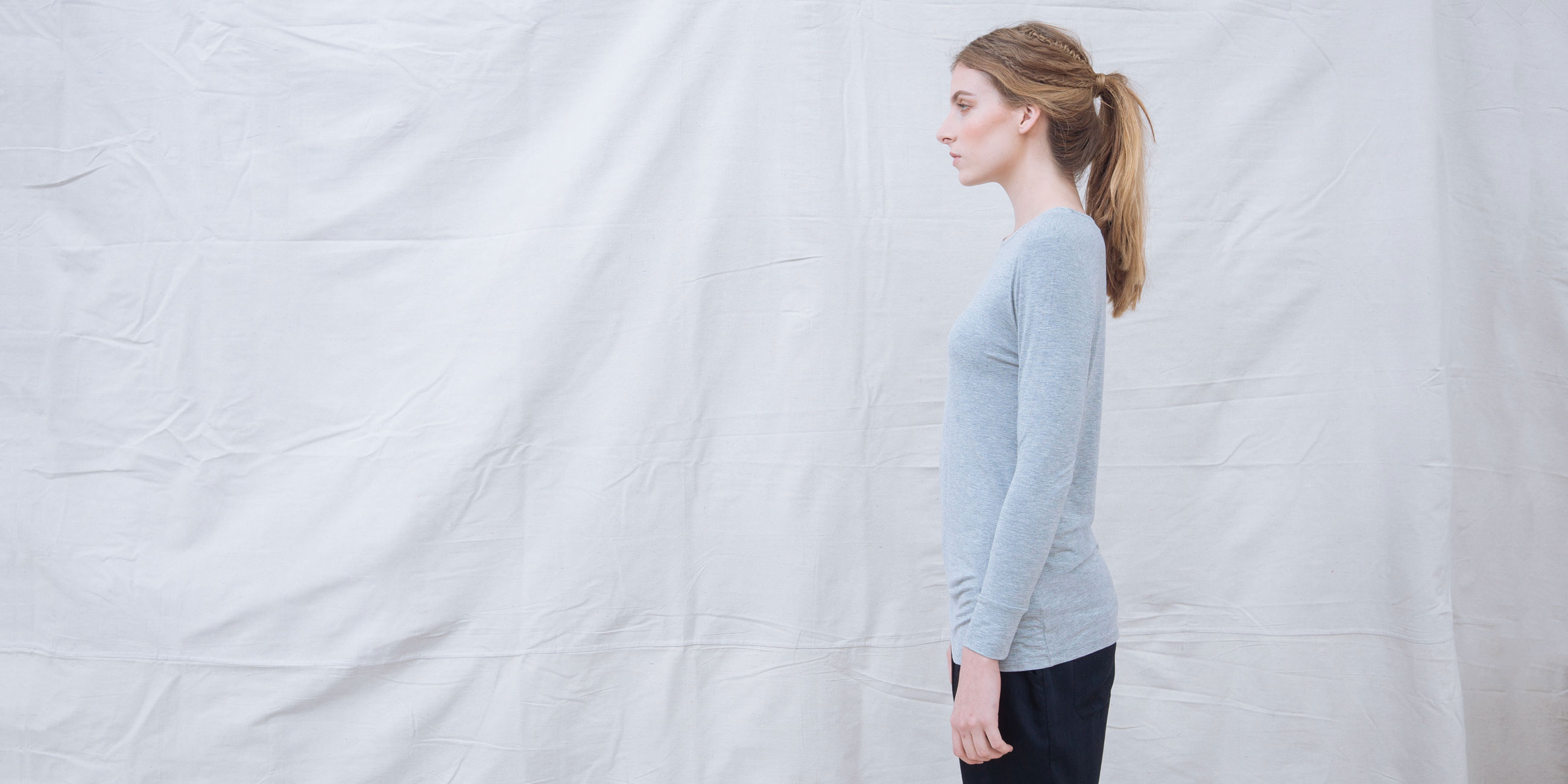 Bamboo Long Sleeve Top Europa Grey  3