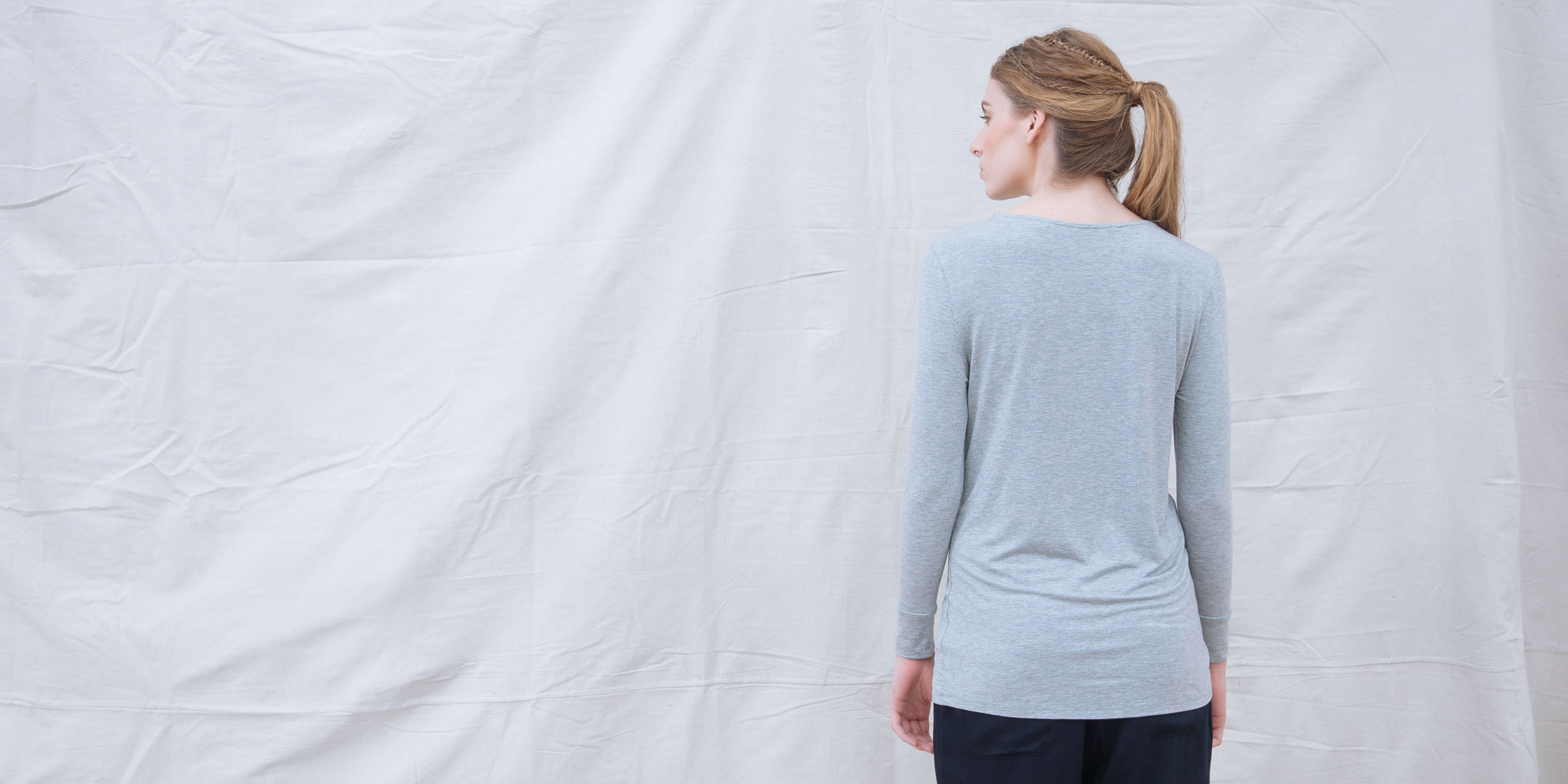 Bamboo Long Sleeve Top Europa Grey  4