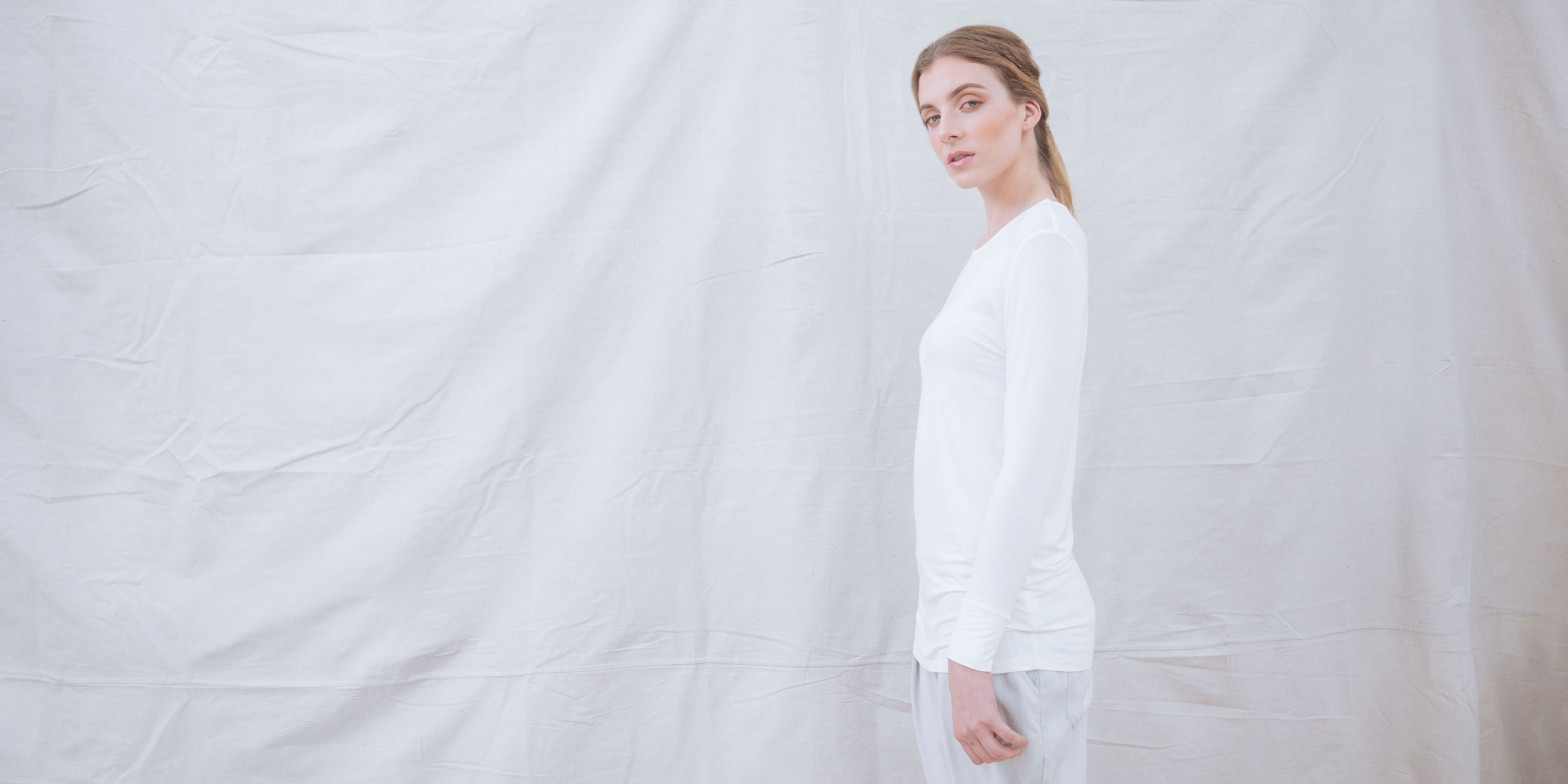 Bamboo Long Sleeve Top Europa White 2