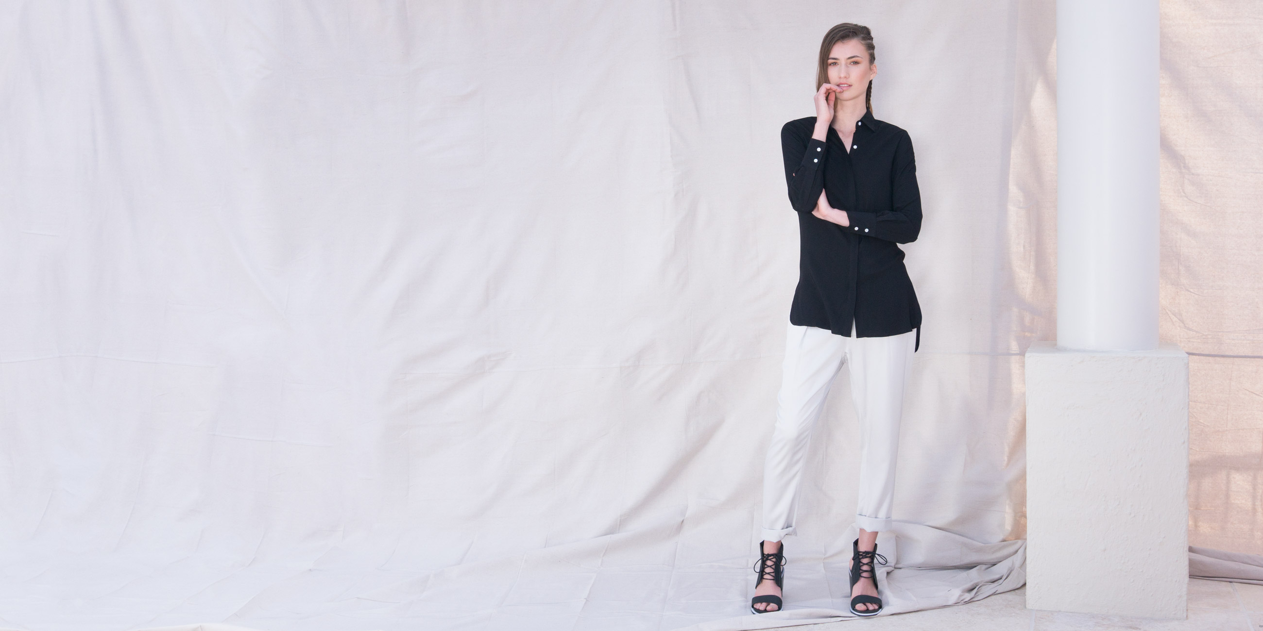 Orbit Collection Bamboo Clothing Helene Shirt Black 1