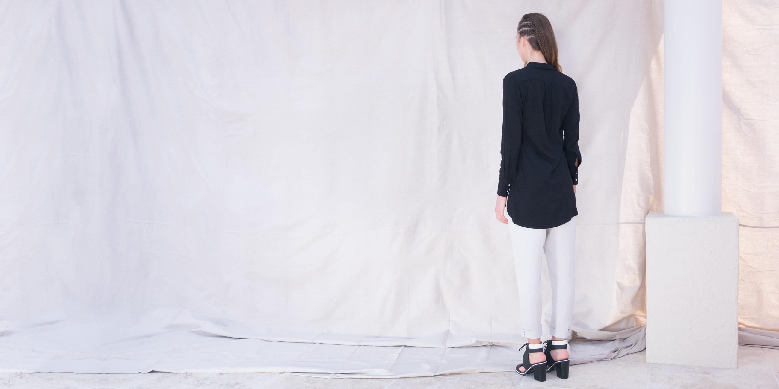 Orbit Collection Bamboo Clothing Helene Shirt Black 2