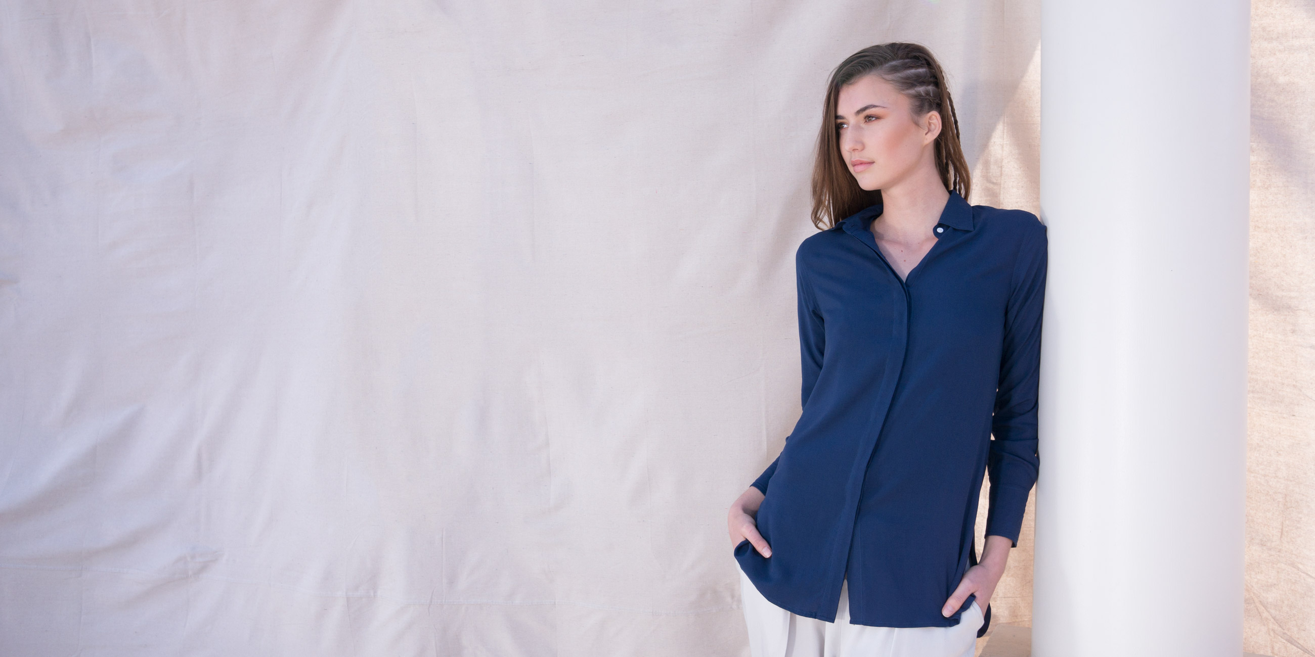 Orbit Collection Bamboo Clothing Helene Shirt Blue 4