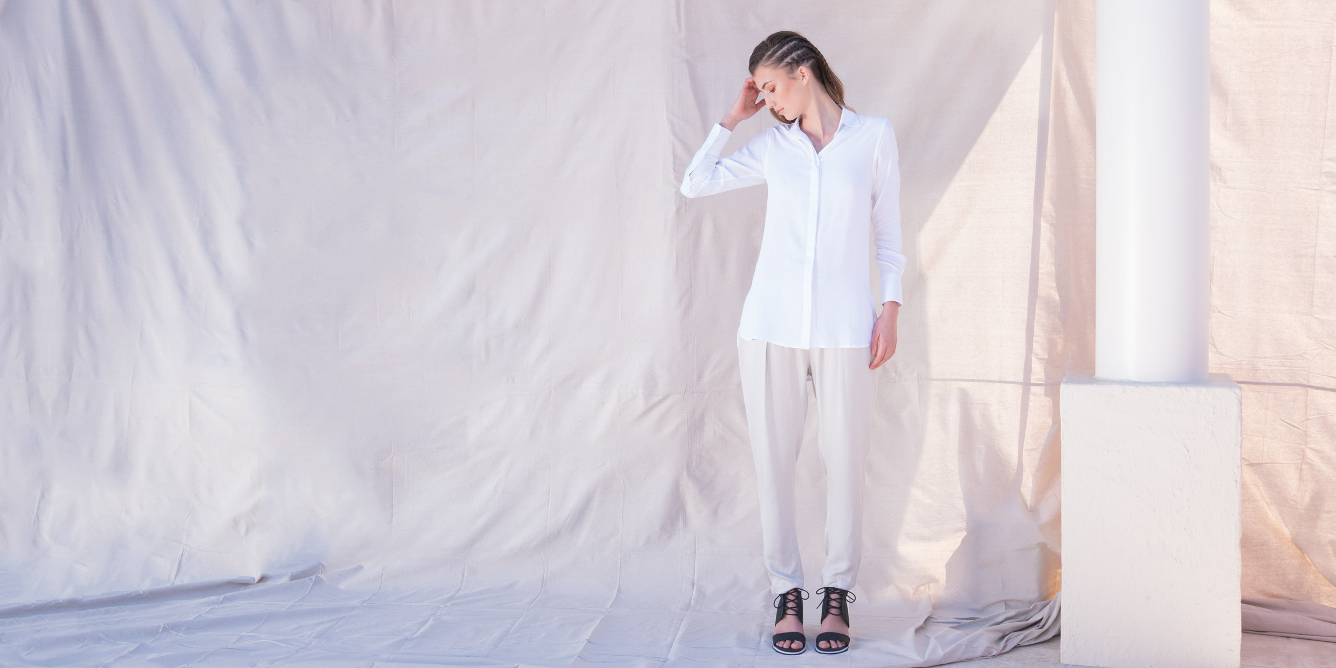 Orbit Collection Bamboo Clothing Helene Shirt White 1