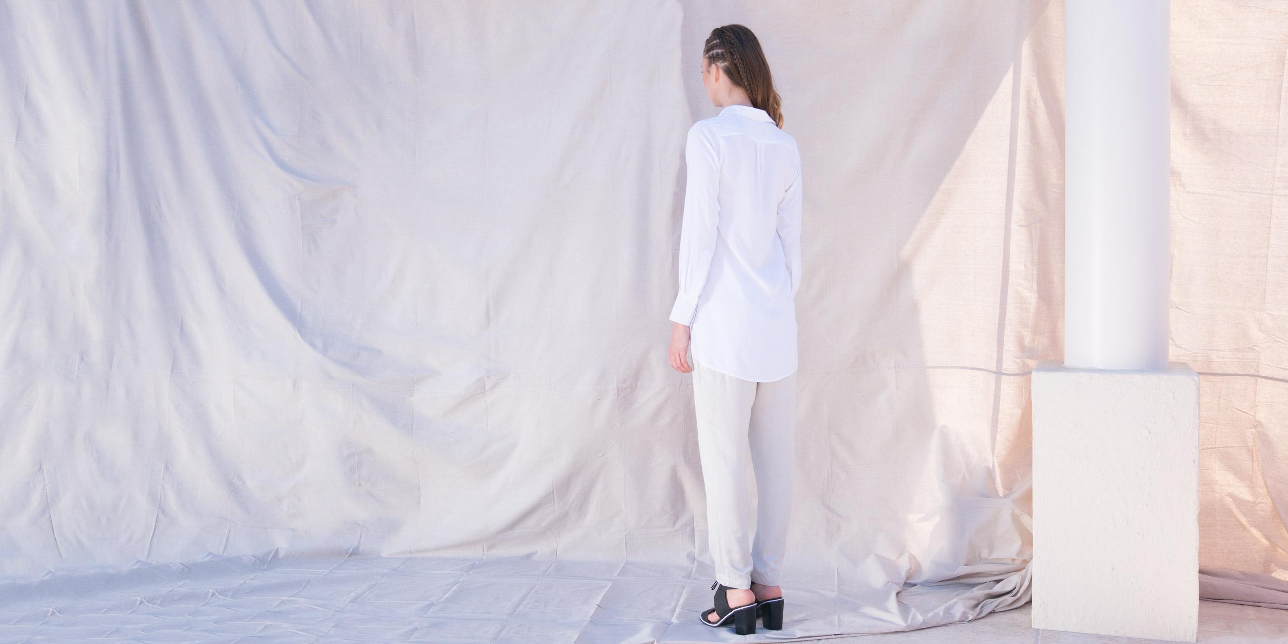 Orbit Collection Bamboo Clothing Helene Shirt White 2