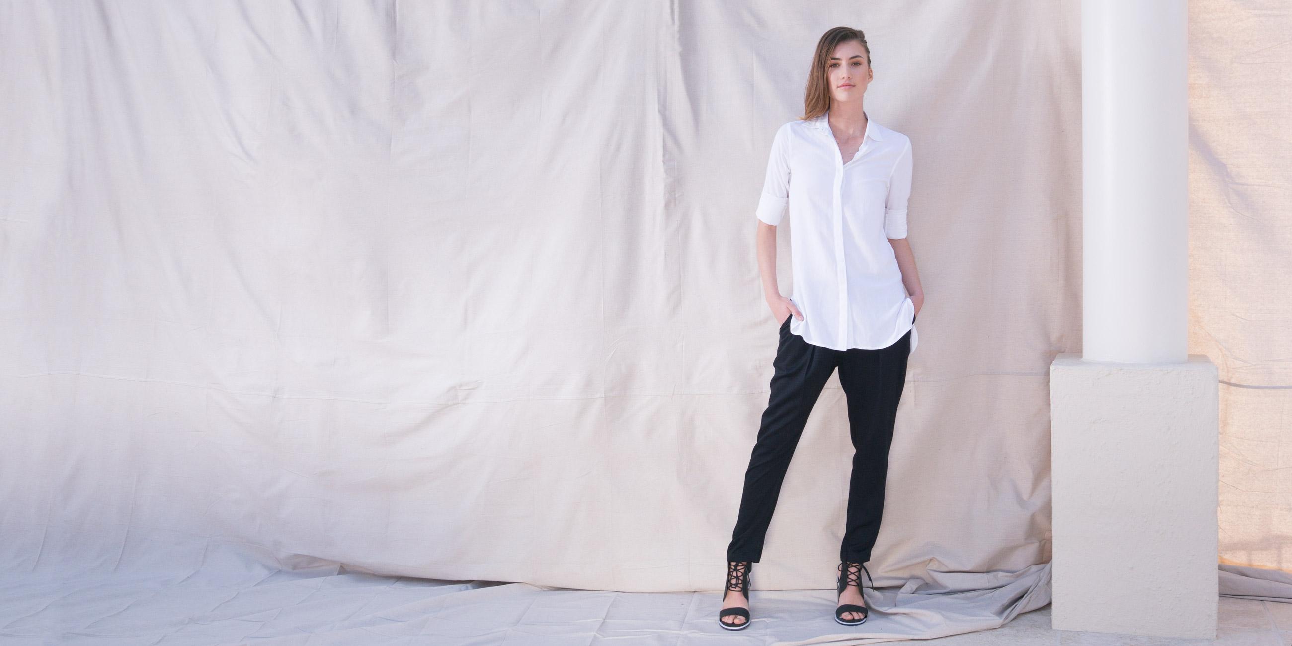 Orbit Collection Bamboo Clothing Helene Shirt White 3