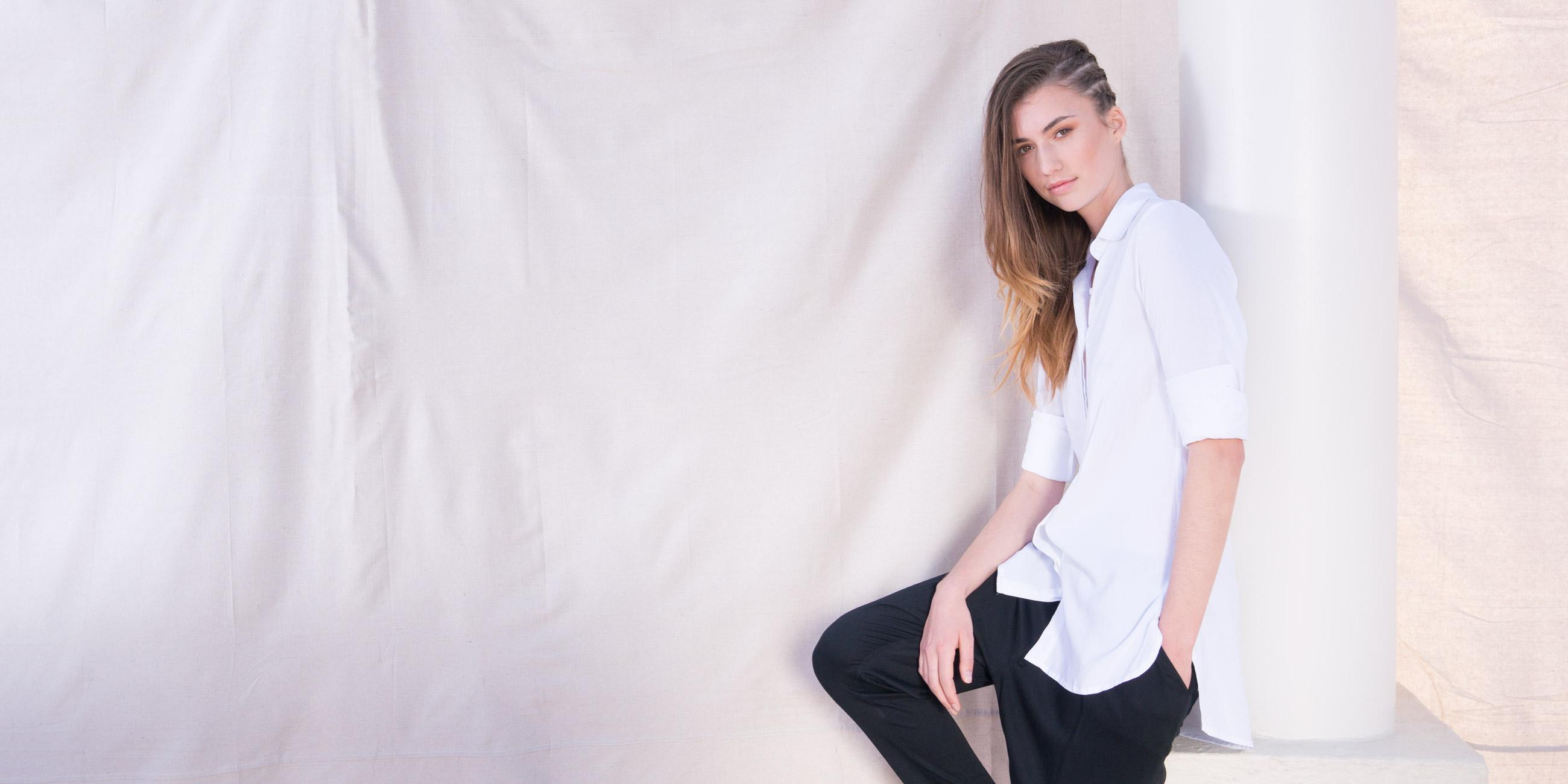 Orbit Collection Bamboo Clothing Helene Shirt White 4