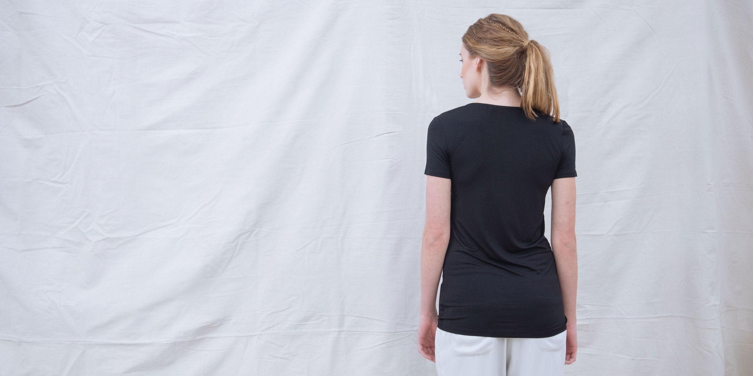 Bamboo Short Sleeve Top Luna Black  3