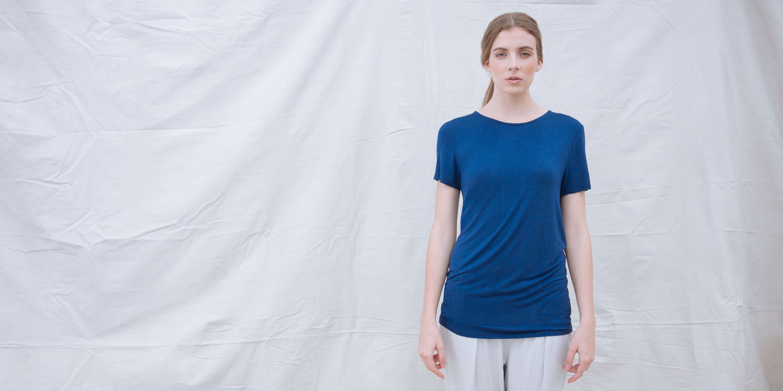 Bamboo Short Sleeve Top Luna Blue 1