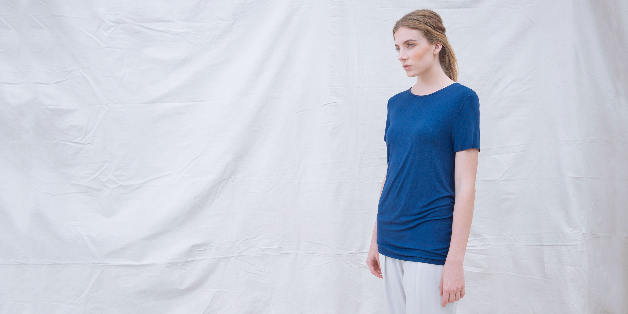 Bamboo Short Sleeve Top Luna Blue 2