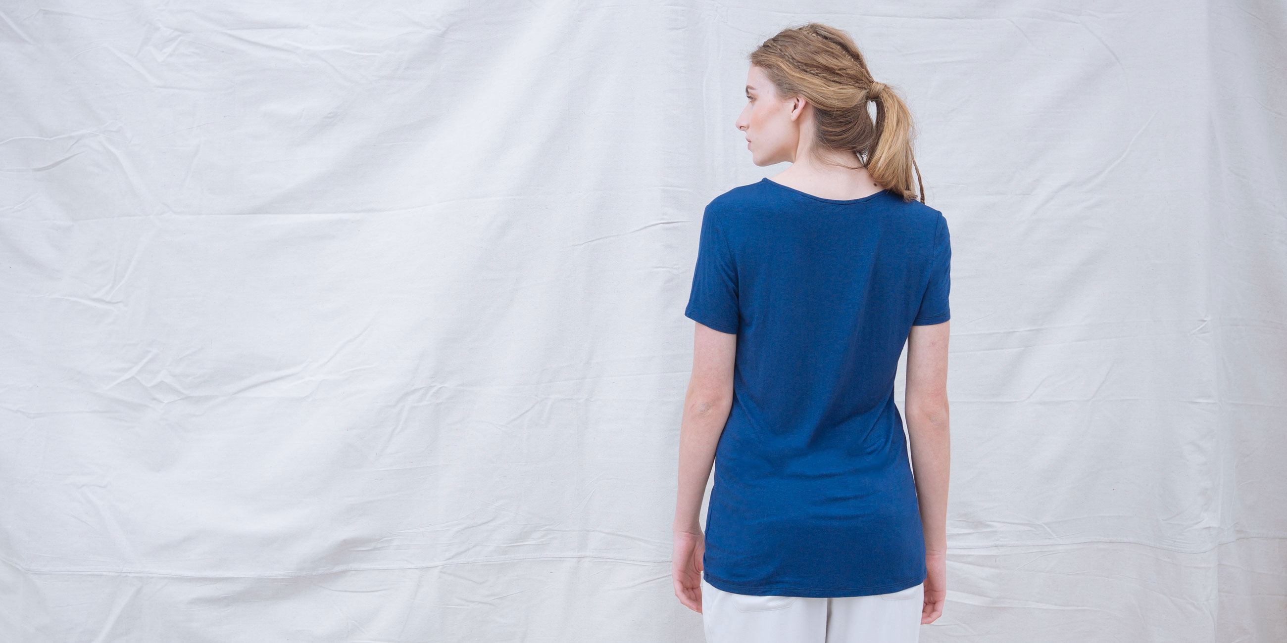 Bamboo Short Sleeve Top Luna Blue 3