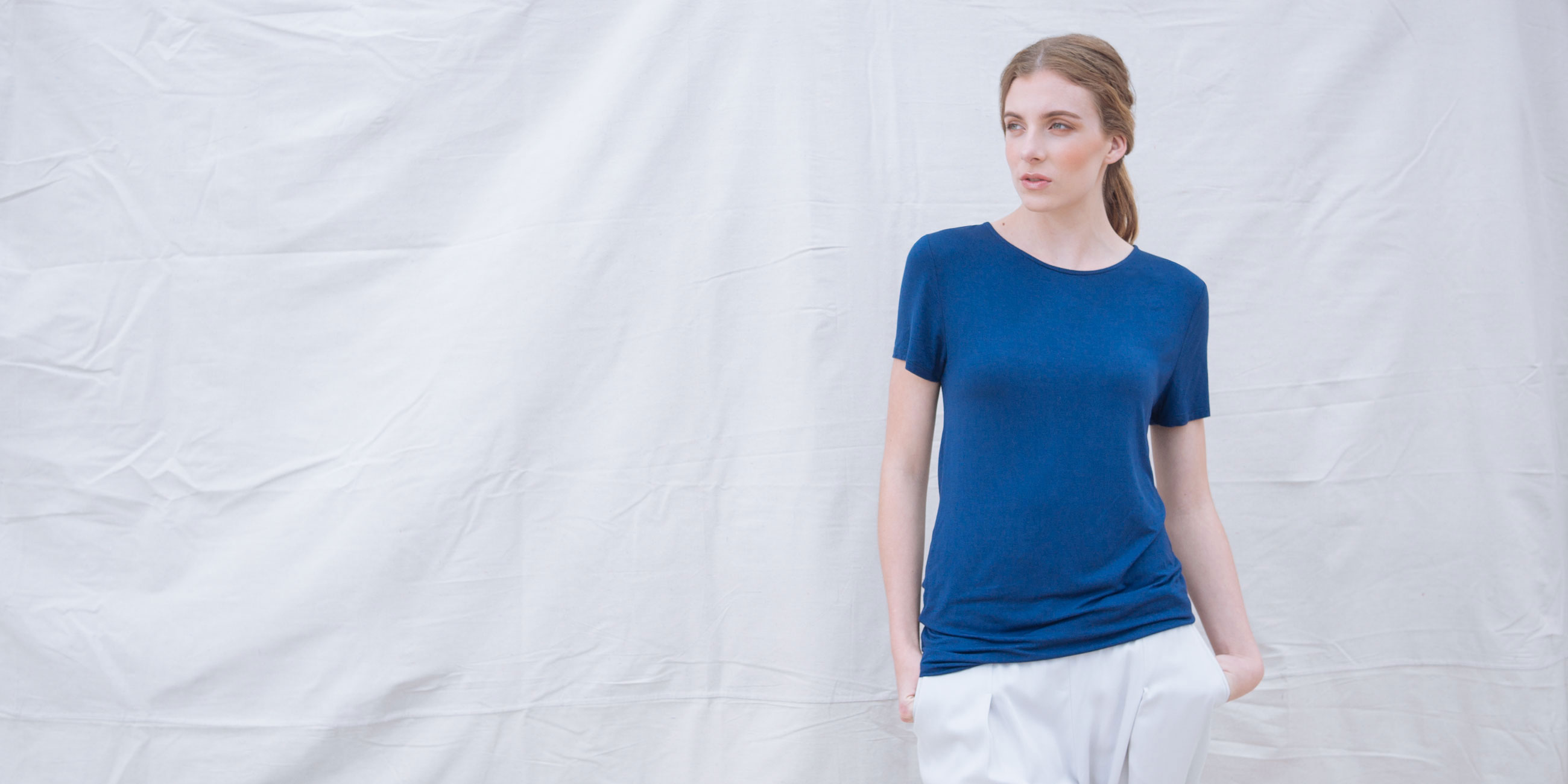Bamboo Short Sleeve Top Luna Blue 4