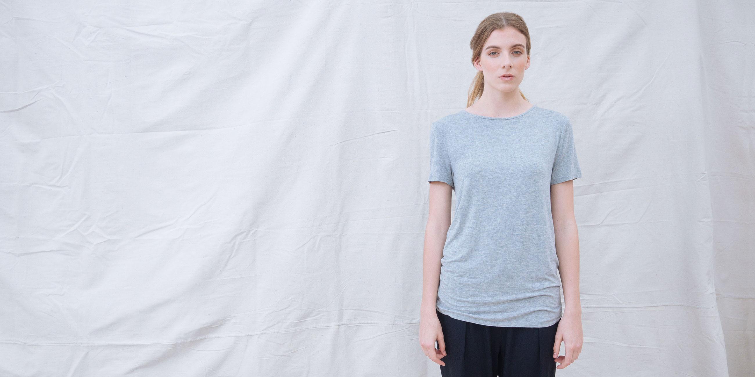 Bamboo Top Short Sleeve Luna Grey  1