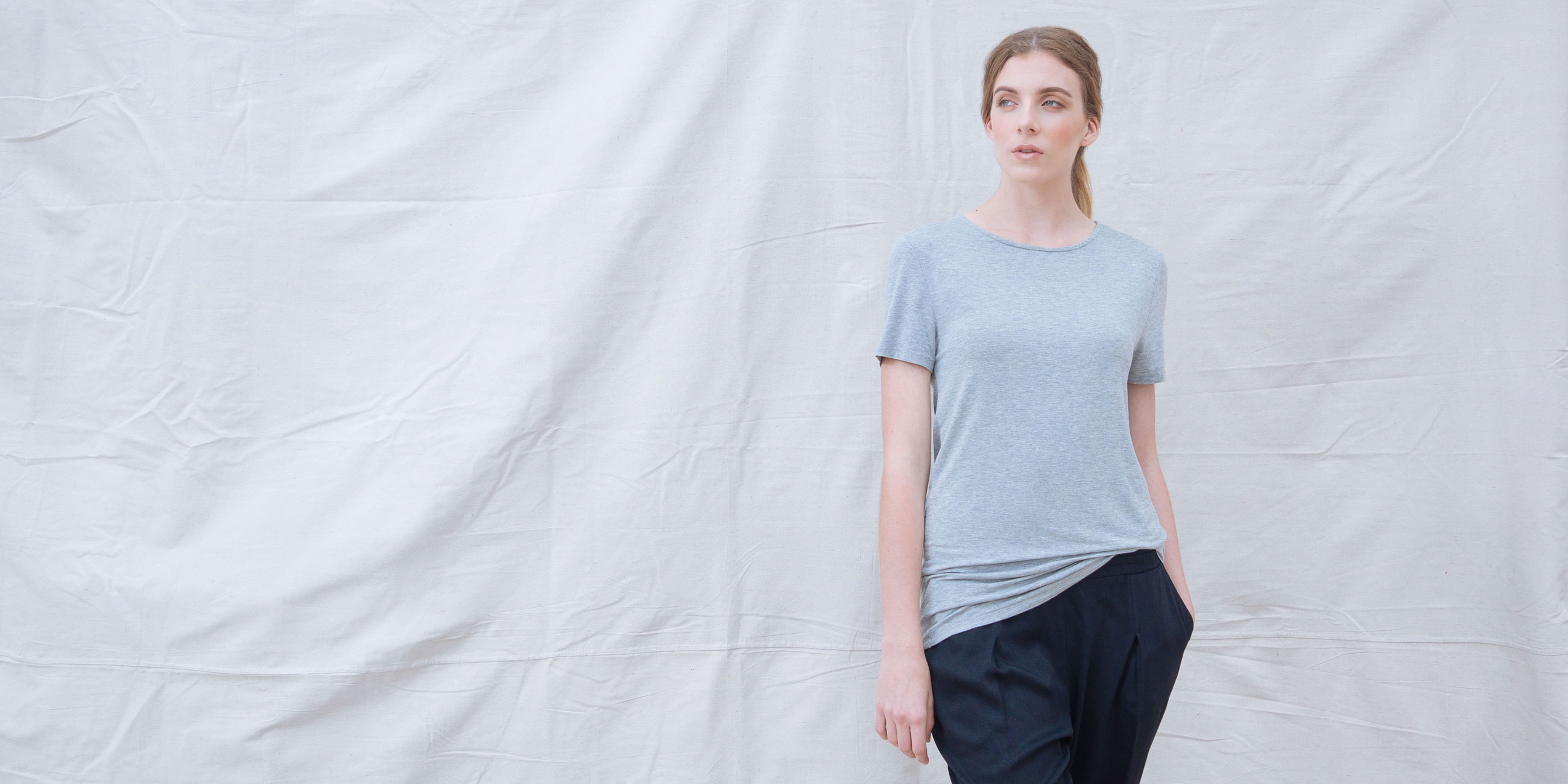 Bamboo Top Short Sleeve Luna Grey  4