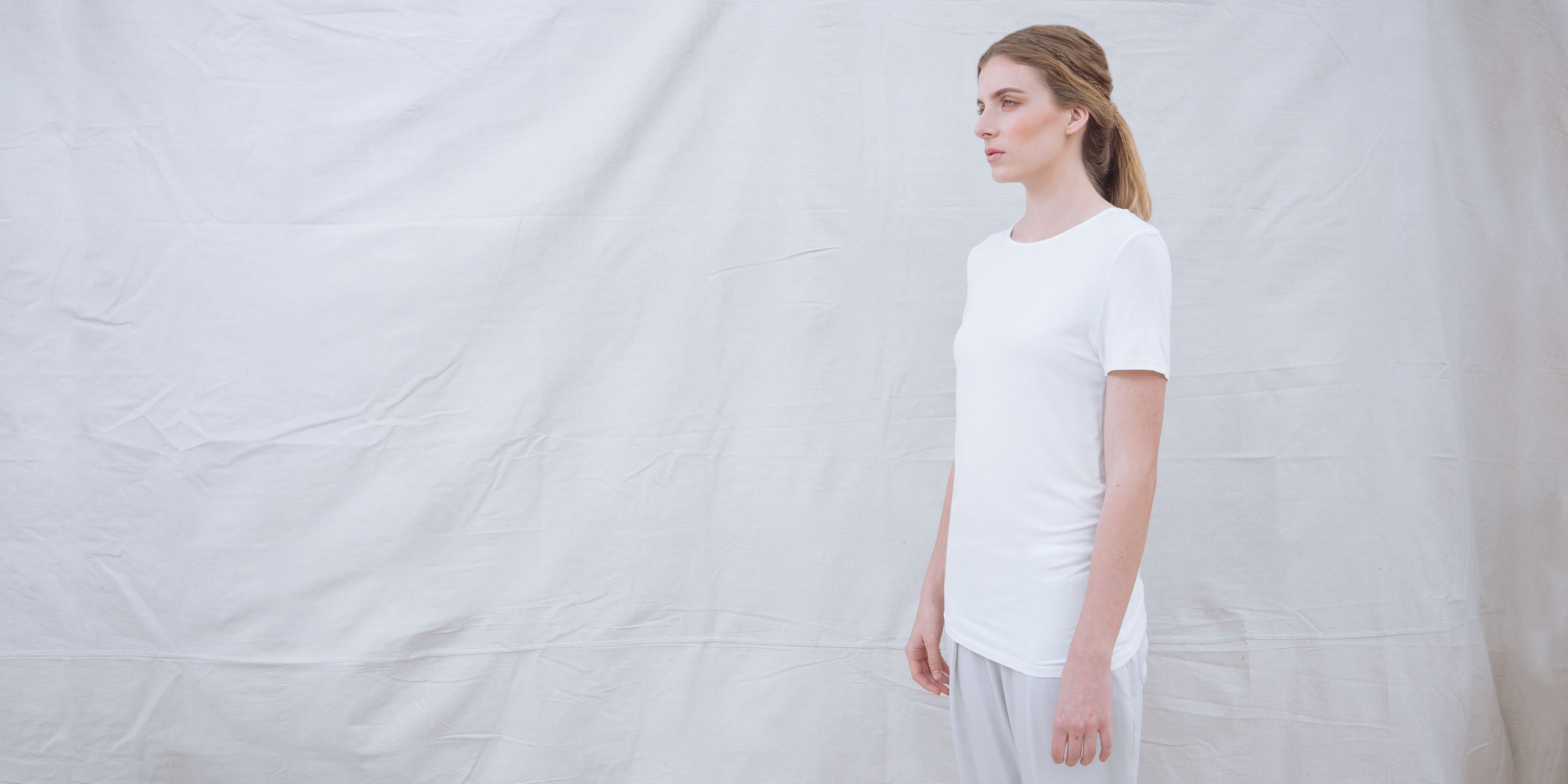 Bamboo Short Sleeve Top Luna White 2