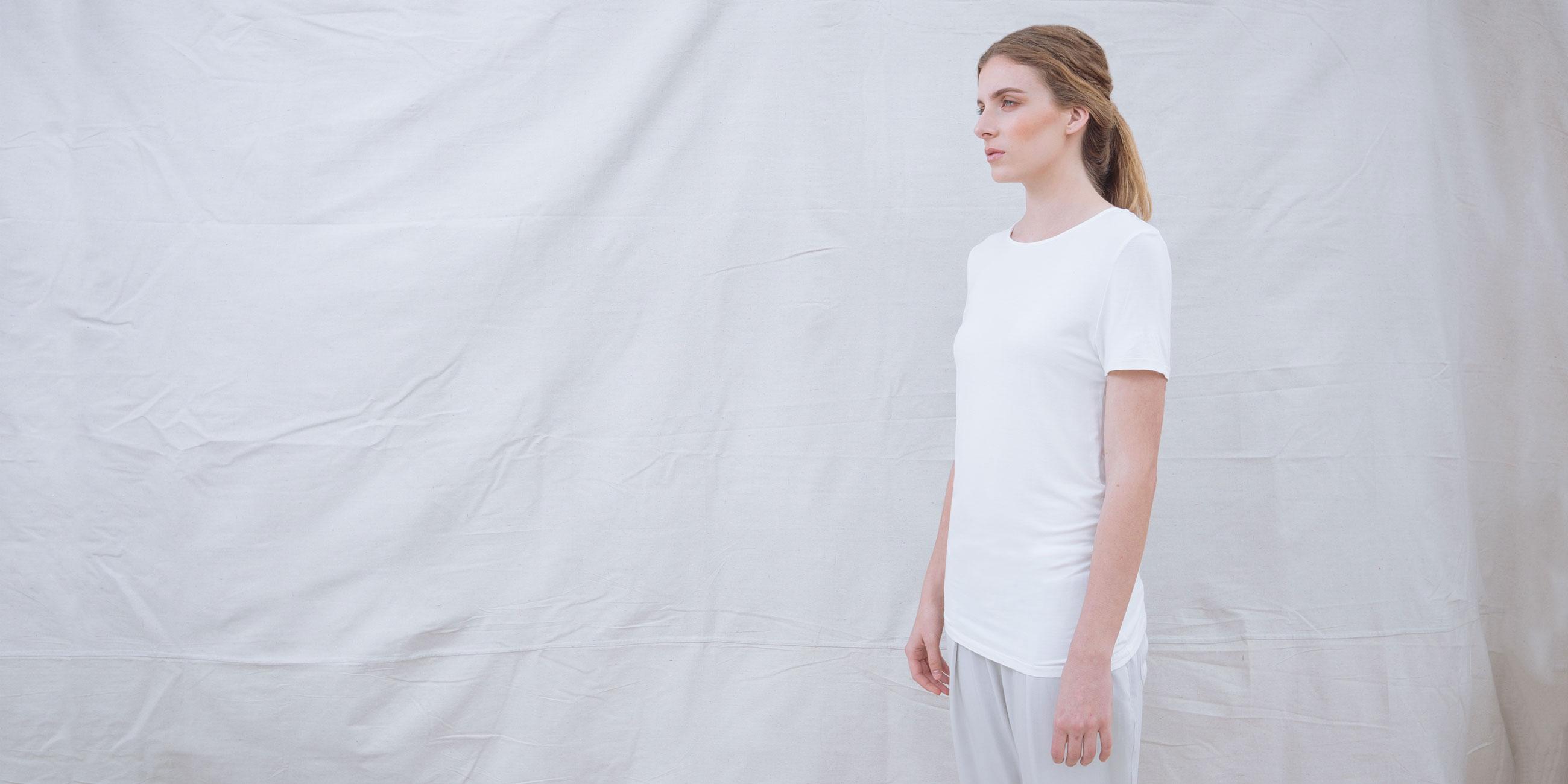 Bamboo Short Sleeve Top Luna White 2