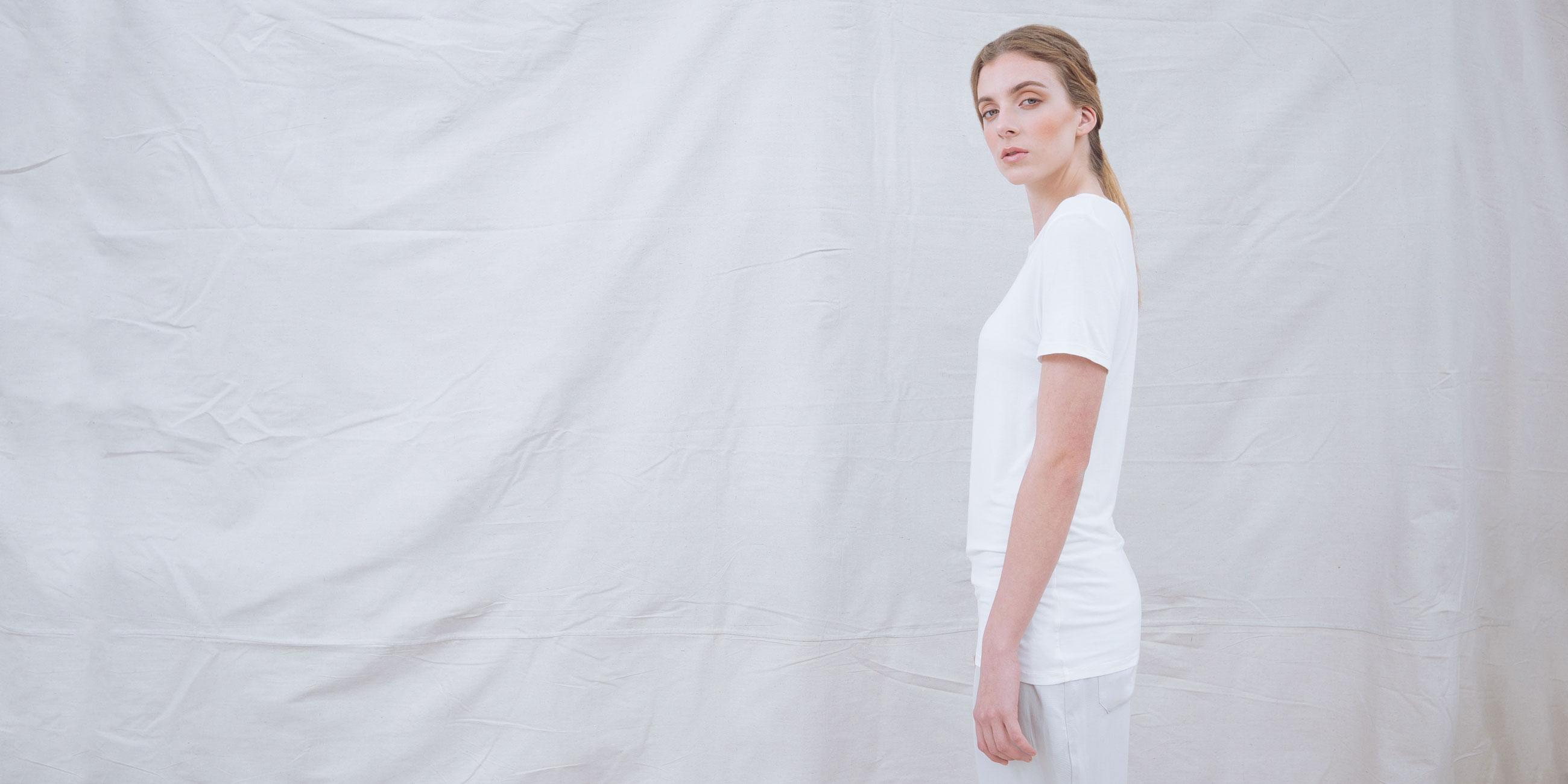 Bamboo Short Sleeve Top Luna White 3
