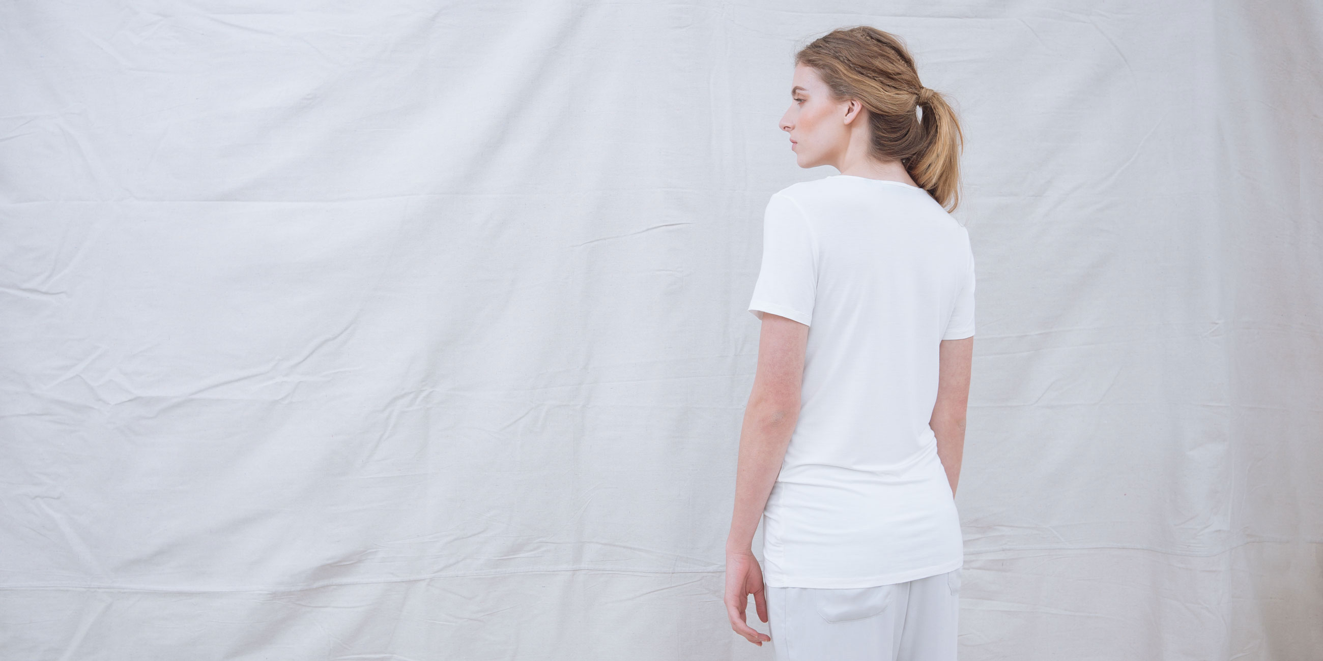 Bamboo Short Sleeve Top Luna White 4