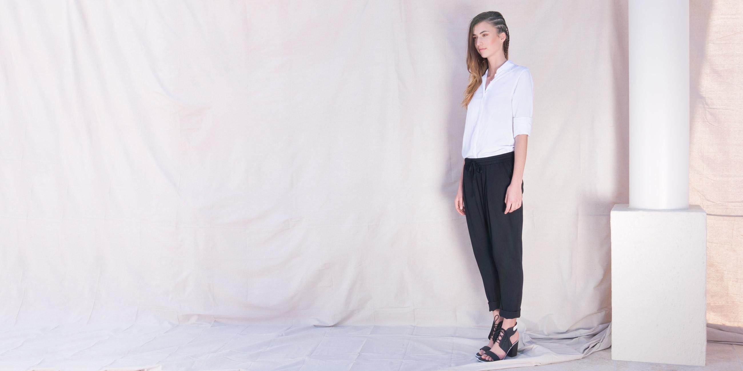 Orbit Collection Bamboo Clothing Portia Pants Black 2