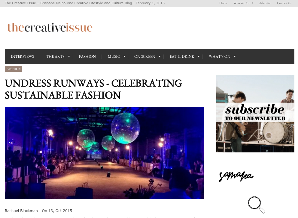 The Creative Issue - Undress Runways The Great Beyond