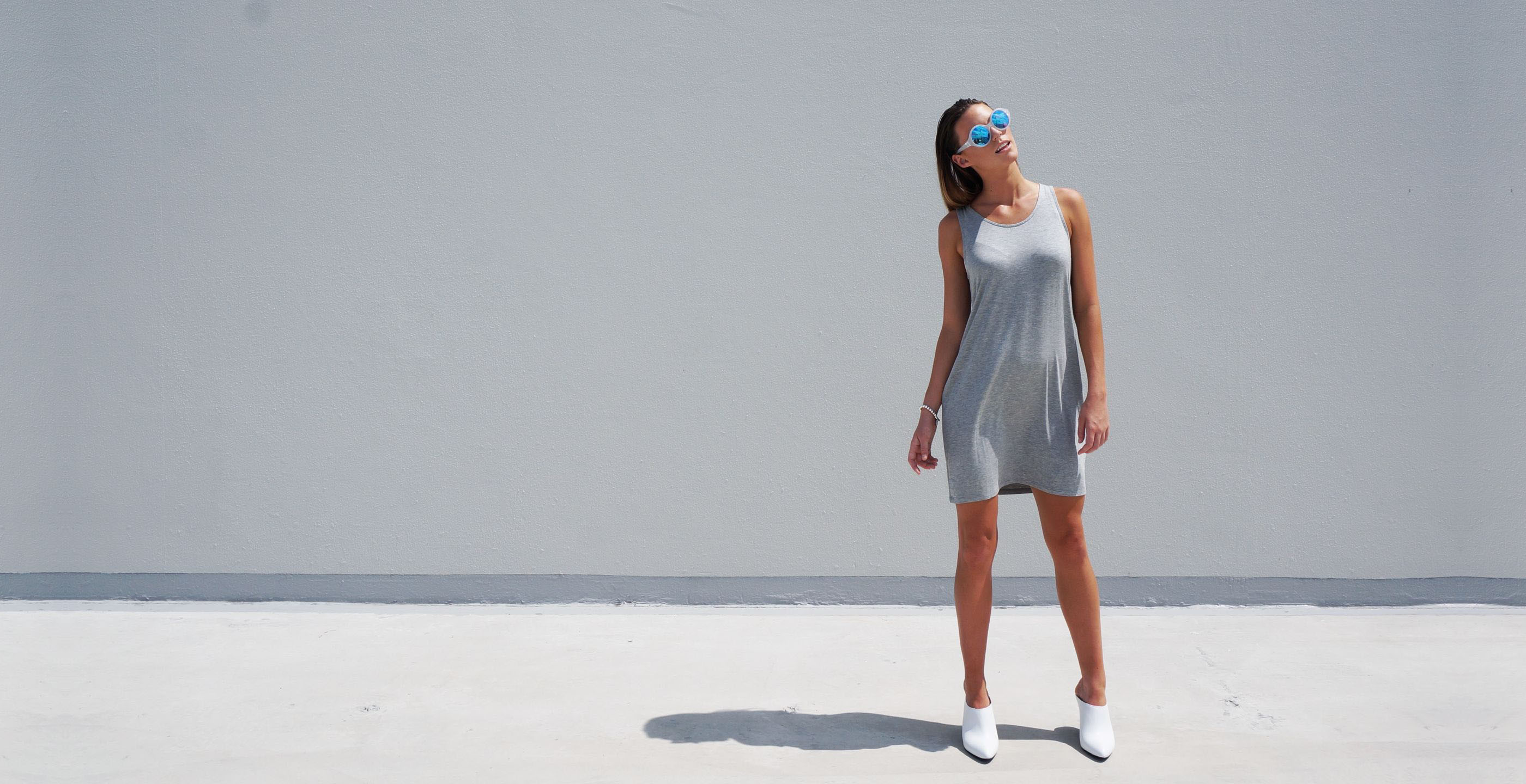 Bamboo Singlet Short Dress Venus Grey