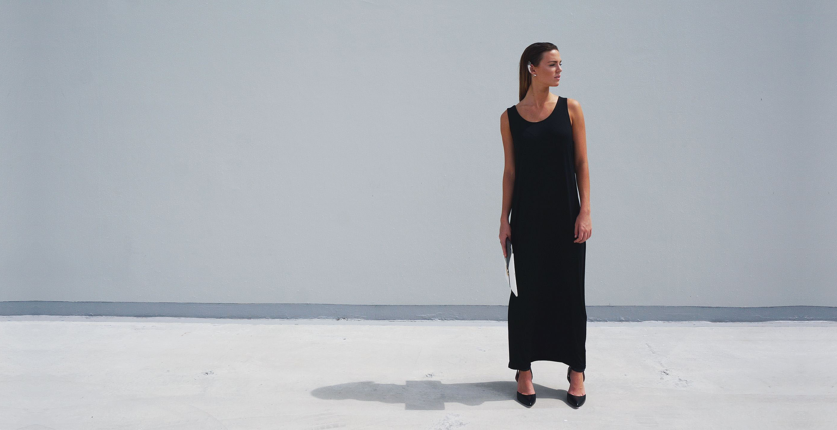 Bamboo Singlet Maxi Dress Venus Black 3