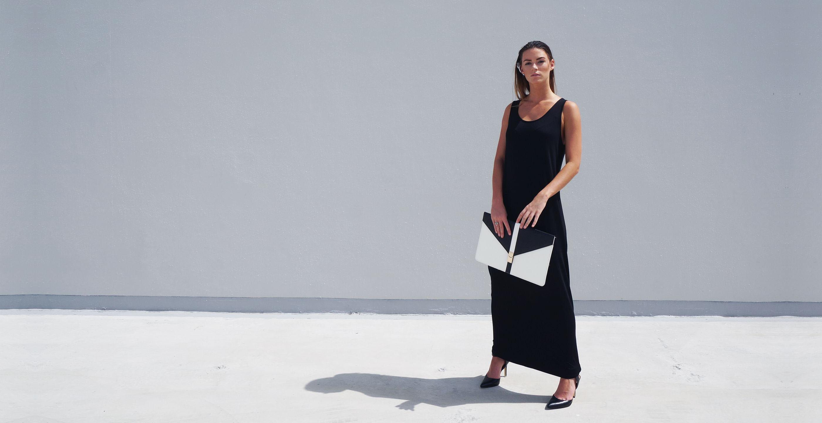 Bamboo Singlet Maxi Dress Venus Black 2