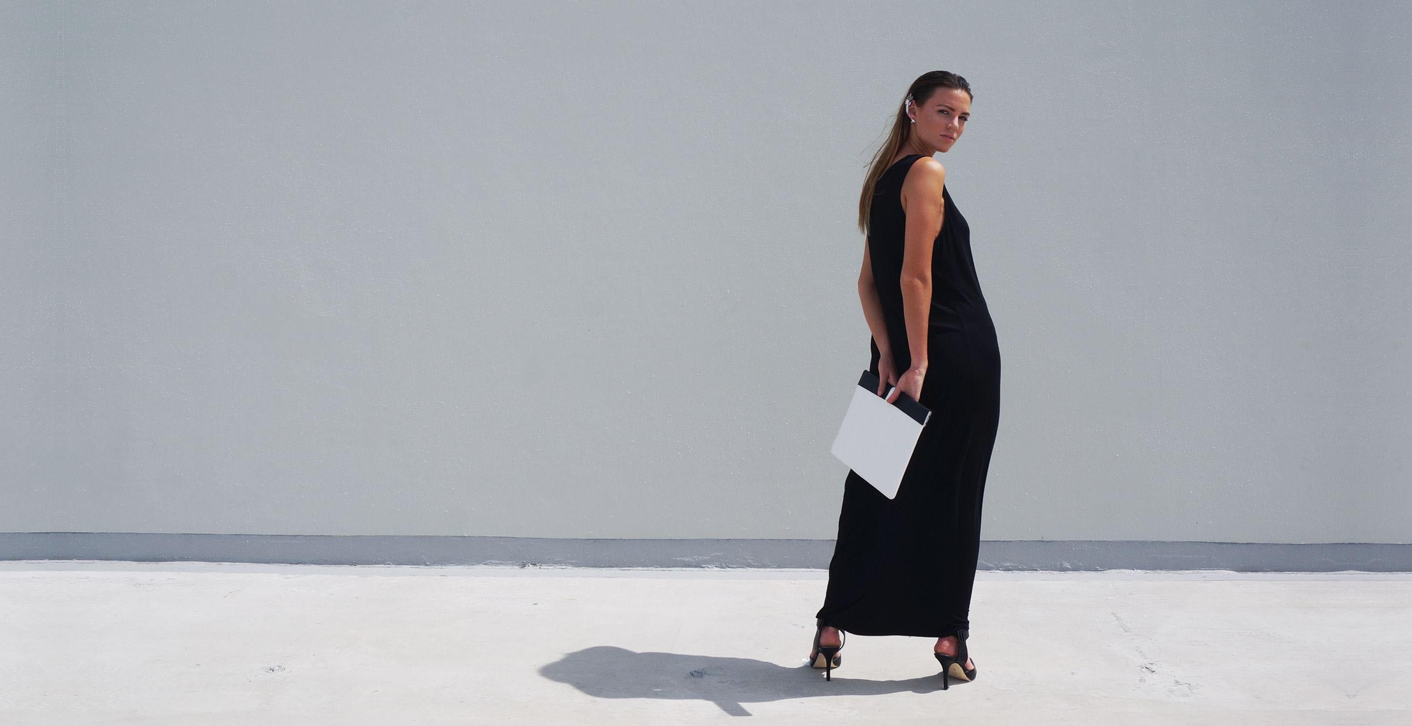 Bamboo Singlet Maxi Dress Venus Black
