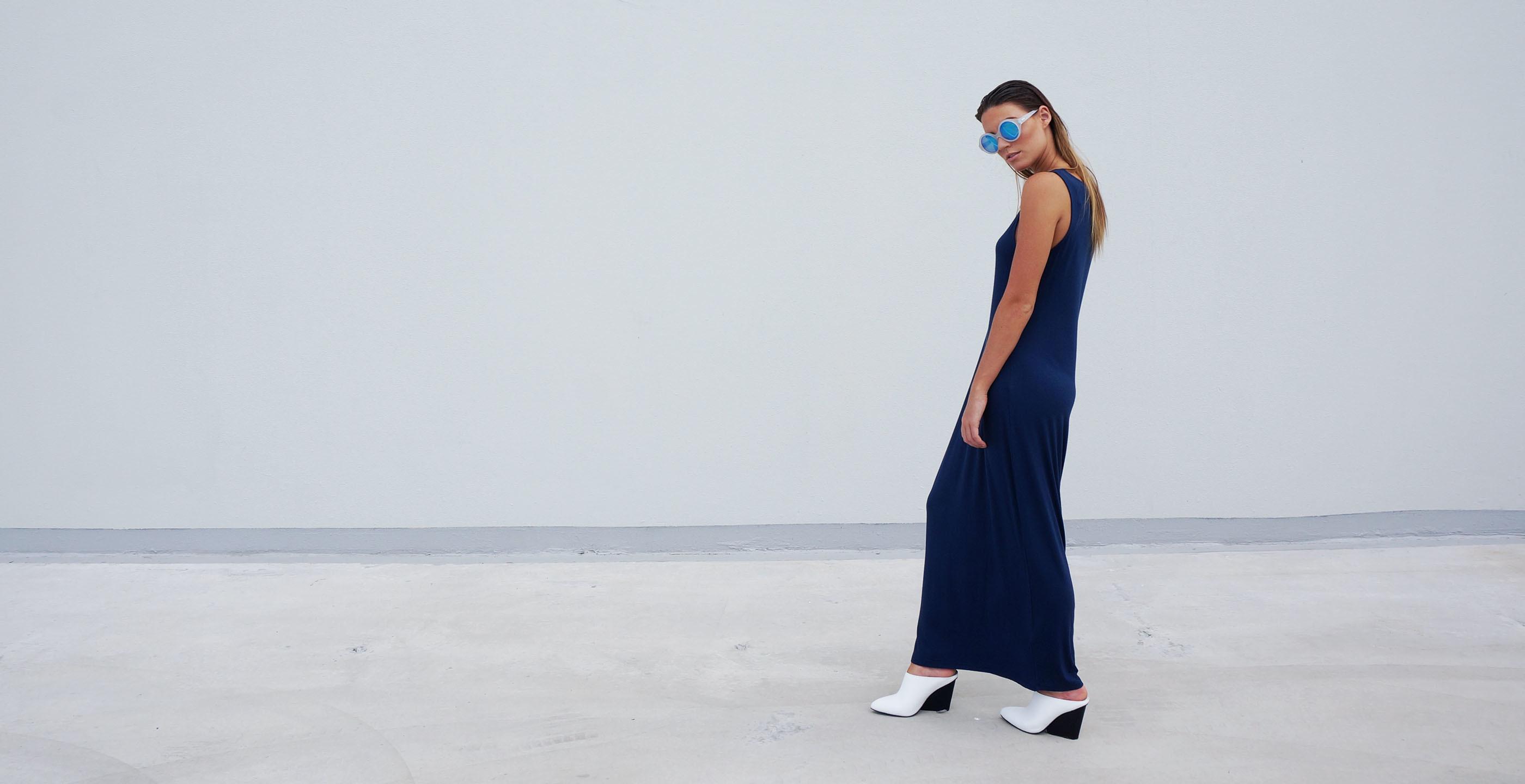 Bamboo Long Dress Venus Blue