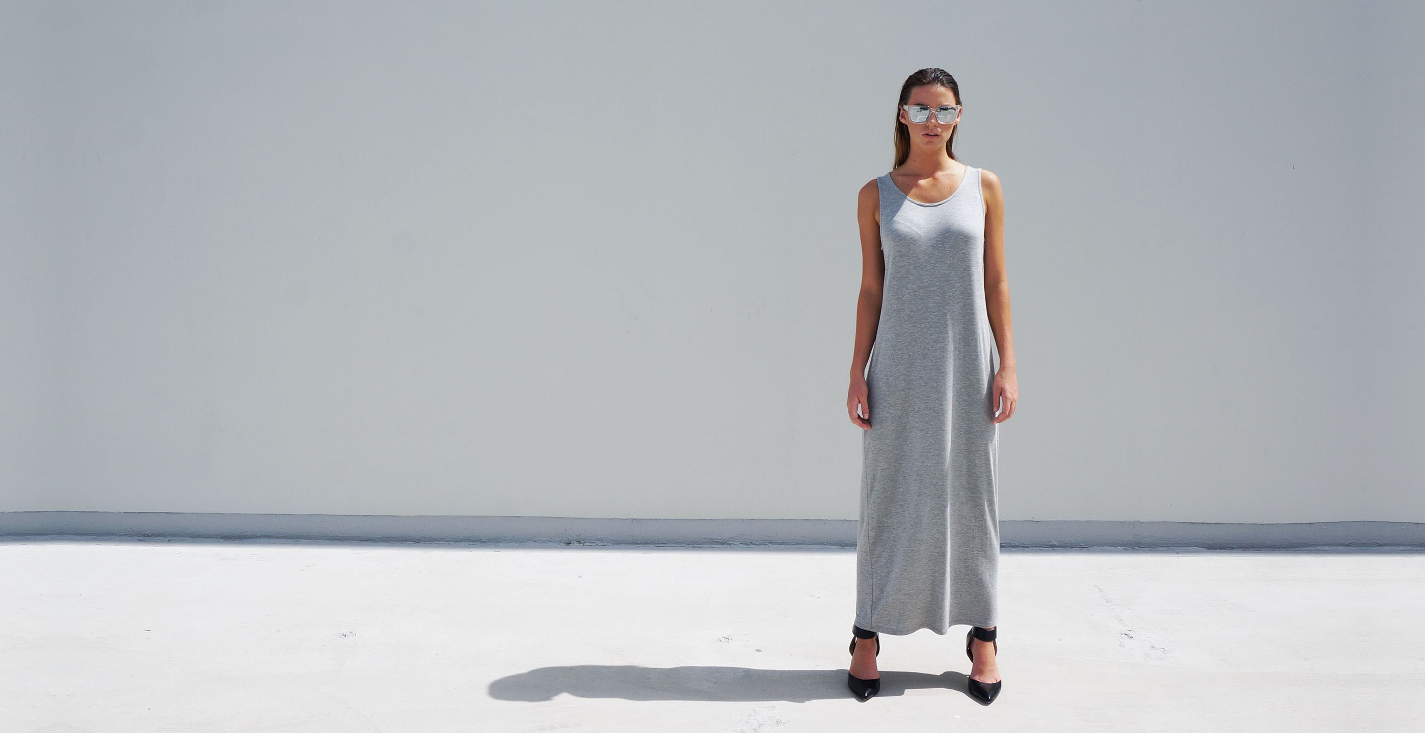 Bamboo Singlet Maxi Dress Venus Grey 4