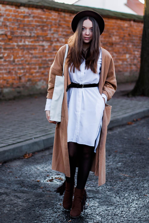 koszulowa in the Helene Shirt Dress in White